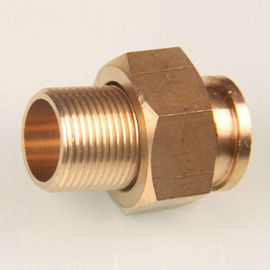 Natural Surface Brass Water Meter Couplings with Customized Size